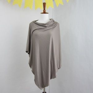 Cambodian Cover in Taupe, Multipurpose Wrap Poncho